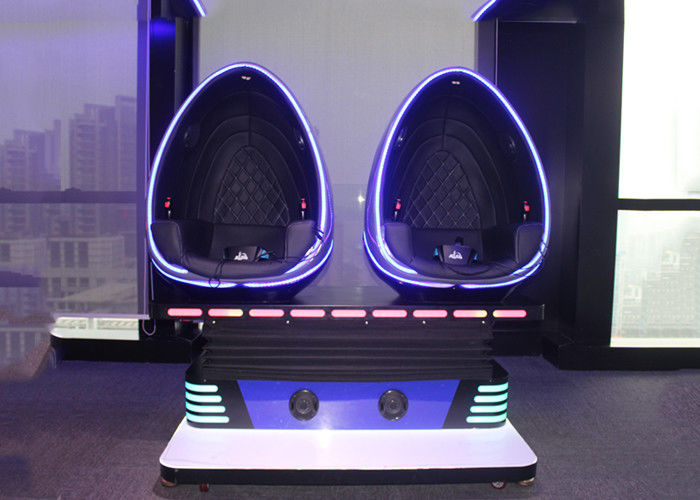 Coin Operated 9D Egg VR Cinema 2 Seats VR Motion Chair With Movies / Games