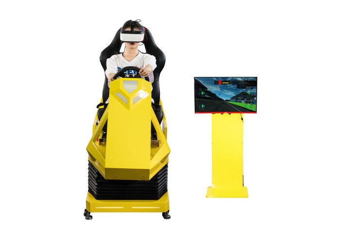 Manual Operation VR Race car simulator Different Maps High Resolution VR Headset